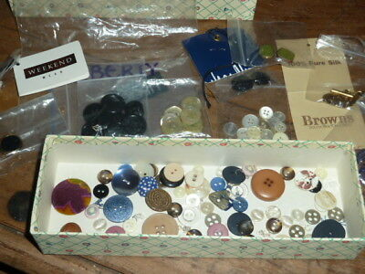 Collection of Classic and Vintage Buttons, Liberty, Jaegar,Jean Muir, Burberry
