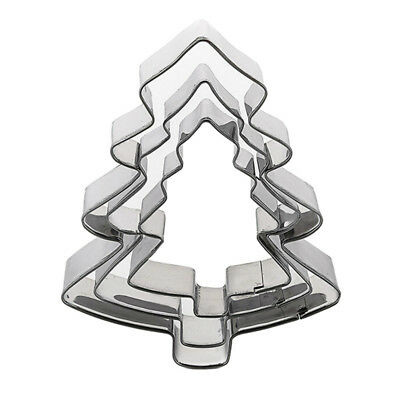 Stainless Steel Christmas Tree Shape Cookie Biscuit Cutter Mold DIY Baking Party