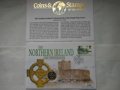 GB Coin First Day Cover (The Northern Ireland One Pound Coin - 1996) With COA