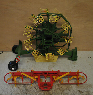 Bruder 1:16 Scale Krone Hay Rake & Other 1 Other Make , Used