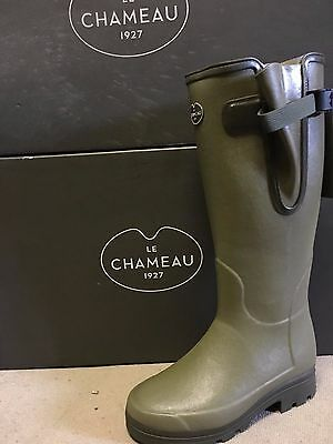 Le Chameau Vierzonord Ladies Wellington Boots Free Cleaning Spray 10 Days Only
