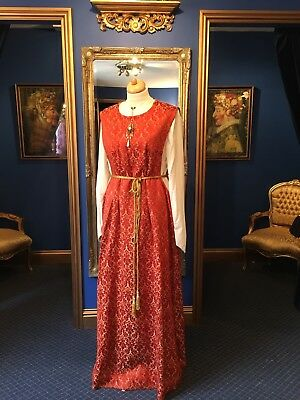 Beautiful Medieval Period Theatrical Style Dress, Gorgeous Fabric & Detailing!!
