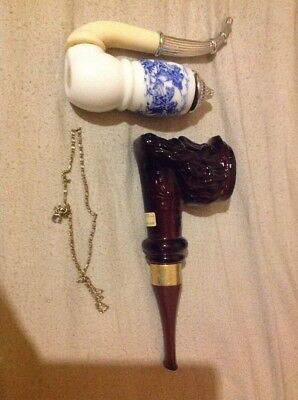 Antique Vintage Collectable Avon Pipes+2 Avon Neck Lace+1