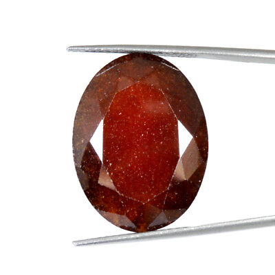 HESSONITE GARNET CABOCHON 44.82Cts NATURAL A+ QUALITY OVAL GEMSTONES77-16