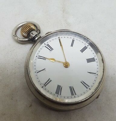 NICE Antique solid silver pocket watch c1900 working