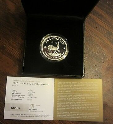 2017 So AFRICAN 50th ANNIVERSARY 1 OZ .999 SILVER KRUGERRAND--PROOF--