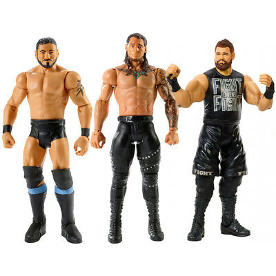 3x WWE NXT Austin Aries Baron Corbin Kevin Owens Wrestling Action Figure Toy Set
