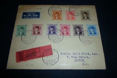 Egypt  1937 First Day Covers King Farouk