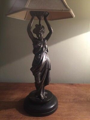 REDUCED Beautifully Cast Antique Art Nouveau Grecian Lady Lamp