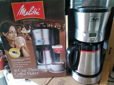 Melitta 10 Cup Programmable Thermal Coffee Maker 46894C