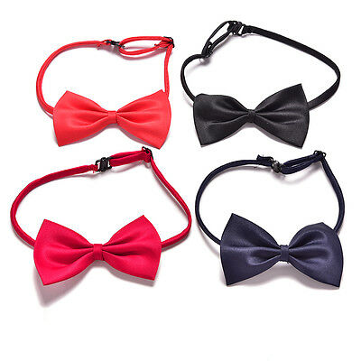 2Pcs Boys Child Kids Solid Bowtie Pre Tied Wedding Party Satin Bow Ties FT