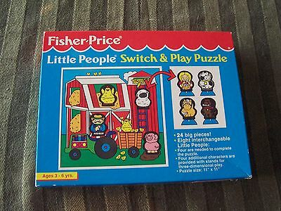 Rare 1992 Fisher-Price 24 Piece Little People Switch & Play Jigsaw Puzzle