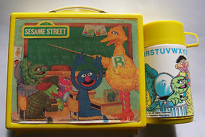 1979 Muppets Sesame Street Aladdin Yellow Plastic Lunchbox And Thermos