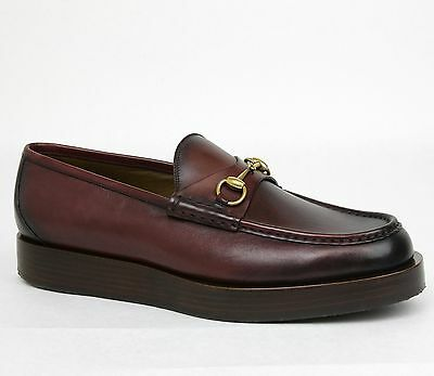 6745972e4e7 New Gucci Men s Shaded Leather Platform Horsebit Loafer 14 US 15 353043 6123