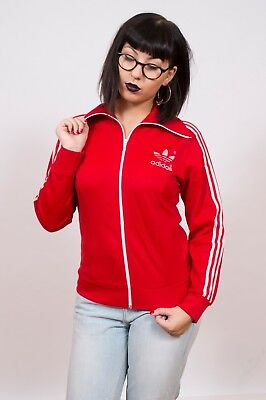 Vintage 1970's Adidas Europa Red Track Jacket 10
