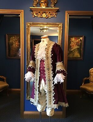 Stunning Men's 18th Century Period Theatrical Court Coat, Absolutely Beautiful!!
