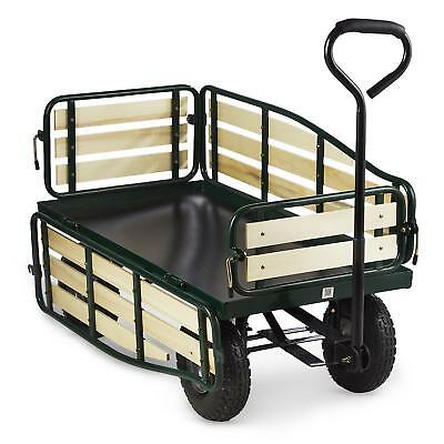 Waldbeck Wheelbarrow Hand Cart Trolley Gardon Wagon Heavy Load 300 Kg Farm Steel