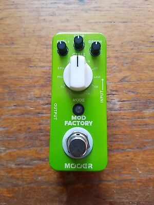 Mooer Mod Factory Modulation Pedal (Phaser Chorus Envelope Wah Flanger Tremelo)