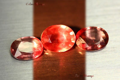 4.360 Ct Rare Natural From Earth Mined *color Change Malaya Garnet* Aaa+ Set !!!