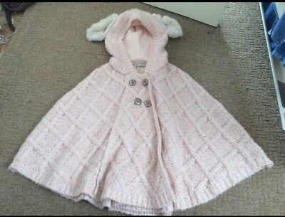 Girls Next Poncho Age 5-6 Bunny Jumper