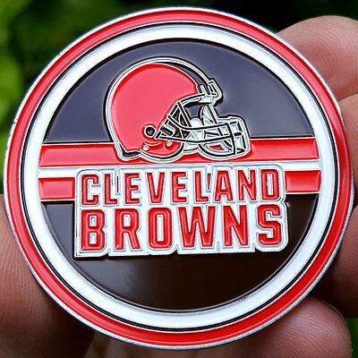PREMIUM NFL Cleveland Browns Poker Chip Card Protector Coin NEW