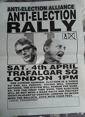Anti-Election Alliance A2 poster, 1990's