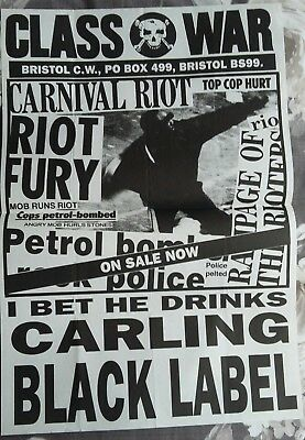 Class War Poster - 'Carling Black Label' A2 poster, 1980's