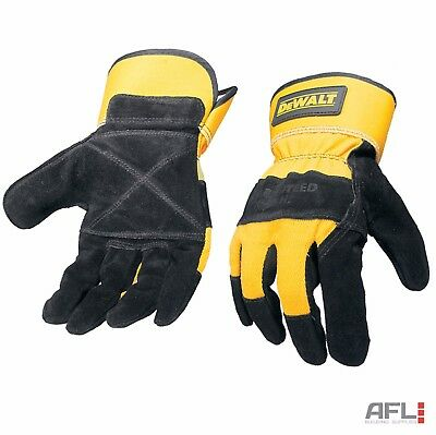 Dewalt DPG41L Heavy Duty Leather Palm Safety Rigger Gloves Large