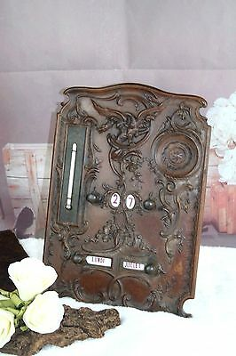 Antique wood Victorian perpetual Calendar dragon carved gothic 1920