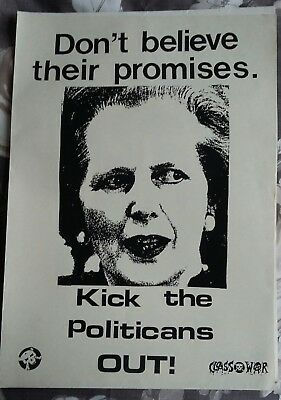 Four rare 1987 Anti-Election posters from Class War/ anarchist group.