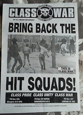Four assorted A3 posters from Class War 1990's/ BUPA/ MINERS, etc. lot 1