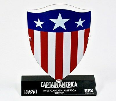 Brand New Exclusive Captain America 1940's Die-Cast Shield 1/6 Scale With Stand