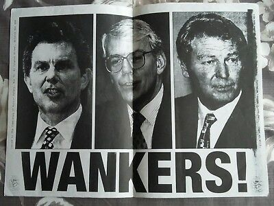 Classic 1997 Anti-Election poster from Class War anarchist group
