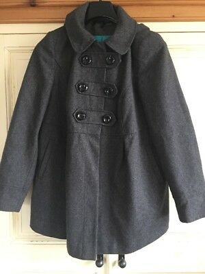 Grey wool maternity winter coat from Next. Size 16.