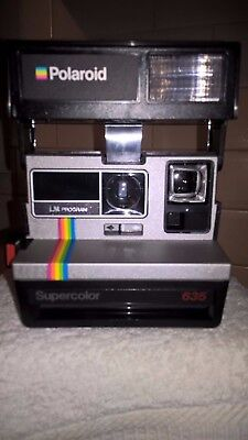 Polaroid, Supercolor 635 LM, instant camera, tested & working, 131
