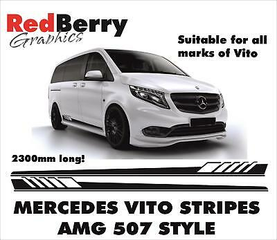 MERCEDES VITO FLARED RACING SIDE STRIPES AMG LOGO DECALS VINYL GRAPHICS 006