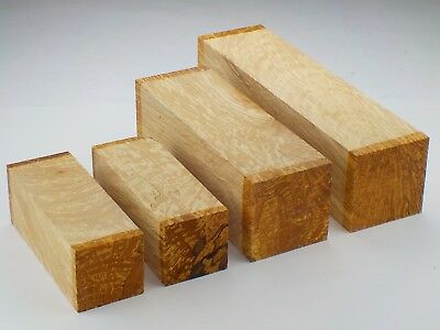 English 'White Fleck' Spalted Beech woodturning spindle blanks / squares.