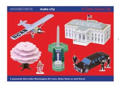 Make City Washington Dc Edition 5 Postcard Set *make It Or Post It* Rare Limited