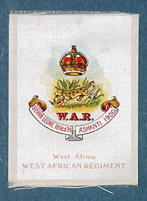 WW1 silk colonial military badge West African Regiment  #7