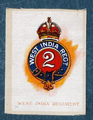 WW1 silk colonial military badge West India Regiment  #34