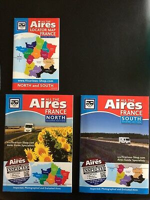 All The Aires France North and South 2017 incl Locator Map