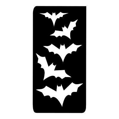 FG082 HALLOWEEN BATS STENCIL for Glitter Tattoo's in packs of 5, 20 & 50