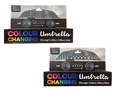 Droplets Colour Changing Umbrella Changes When Wet - Rain Rain Go Away / Stars