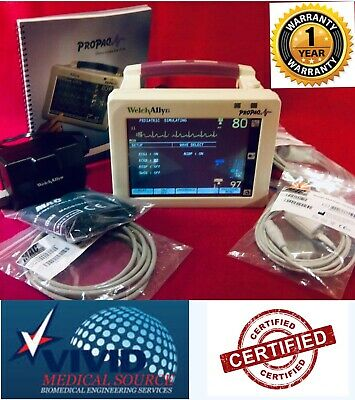 Welch Allyn Propaq 242 CS Patient Monitor Spo2  NIBP Acce ECG 1 Yr Warranty Cert