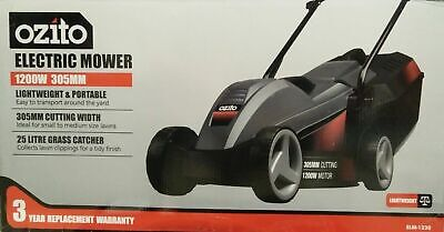 OZITO™ 1000W Ecomow Electric Lawn Mower Lawnmower + Grass Catcher +3YR Warranty