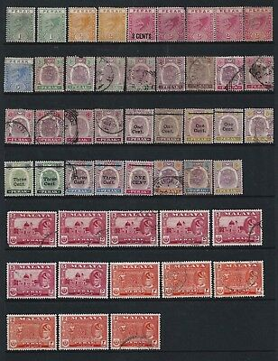 Malaya Straits Settlements Perak On 4 Stock Page Sides