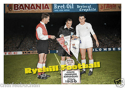 Football Art Print - Stade Reims v Real Madrid, 1956 European Cup Final