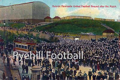 Newcastle United Colourised A3 Football Art Print - After The Match - 1908