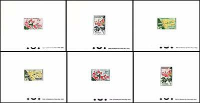 GABON 1961 AFRICAN FLOWERS x6 DELUXE S/S SC#154-59 MNH