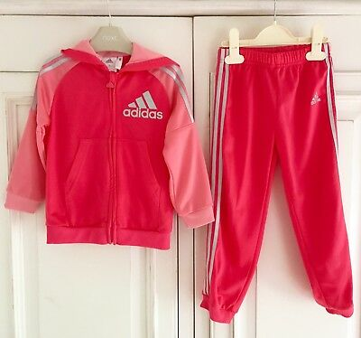 ADIDAS *3-4y GIRLS TRACKSUIT TOP Hoodie JOGGERS TROUSERS OUTFIT 3 - 4 YEARS